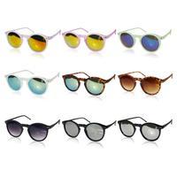 1 pcs New arrival Retro Unisex Color film Square Sunglasses Vintage Reflective Eyeglasses 9 Colors for choose