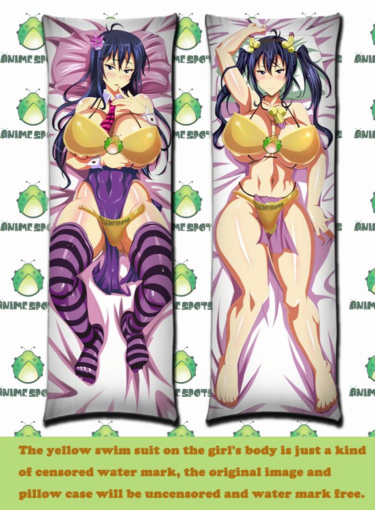 product Free Shipping SM1465 Maken ki Aki Nijou Anime Dakimakura hugging body pillow case cover