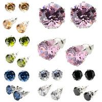 Wholesale Hot Sale Jewelry Earring Zircon Silver Earrings SWA Elements Austrian Crystal Rhinestone Earrings For Women