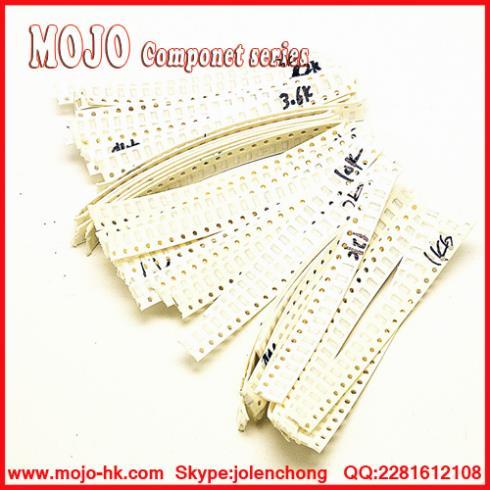 product Free Shipping! 1206 SMD  Resistor Assorted Kit Sample bagTOL:1%620R~12K32ValuesX20PCS=640PCS