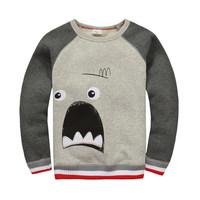 BTT-11, Cartoon, Children boys T Shirts, 100% Cotton micro terry long sleeve tee for 1-6 year.