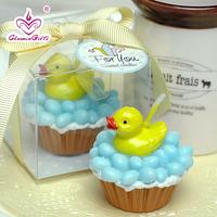 Novelty Wedding Birthday Decoration Creative Smokeless Little Yellow Duck Candle Free Shipping