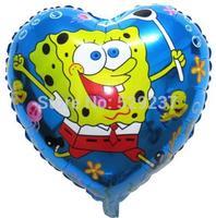 Free Shipping~ 10pcs/lot 18 inch Wholesale Helium balloons Heart-shaped balloon Aluminum foil hearts sponge balloon