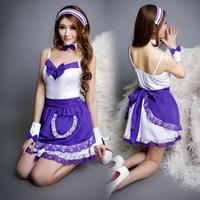 NightClub Maid Costume Sexy Maid Lingerie Cosplay Uniform Temptation Uniform Disfraces De Adulto Cosplay Costume Assassins Creed