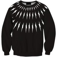 Sws0098 New Arrivai Europe Hot Digital Printing Black Lightning O-Neck Pullover Hoodies Sweatshirts 3D