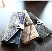 European and American Fashion Design Cowhide Serpentine Long Wallet 2015 New Money Clip Change Purse Coin Bag 780e
