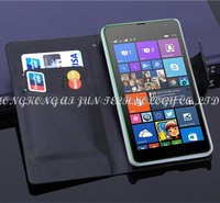 100pcs/lot book style leather Case cover for Nokia lumia 535 for microsoft lumia 535 case with card slots holders 5 color