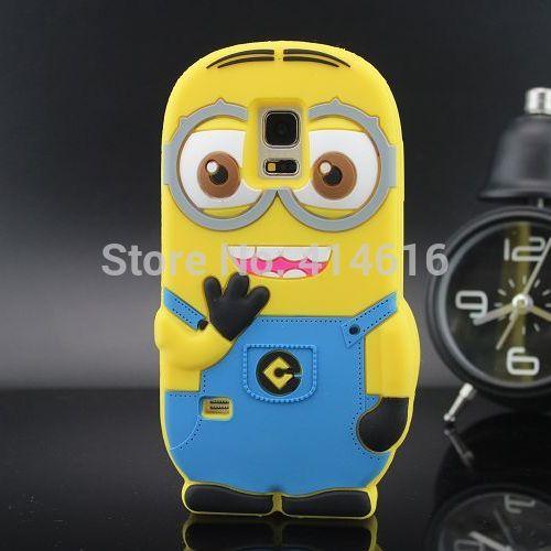 For Samsung Galaxy S5 mini Case Cute Despicable Me 2 Minions Silicone Mobile Phone Cases Cover For Samsung Galaxy S5 mini G800(China (Mainland))