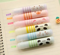 HIghlighter,  Kawaii animal farm mini highlighter pens, 6colors/pack, Office supply & Stationery (SS-a309)