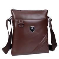 2015 new vertical pu leather mens bag business men messenger bag brand male fashion shoulder bag bolsas masculinas sac homme