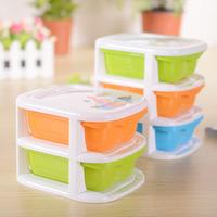 2 green orange pp mini storage box desktop drawer jewelry storage box 1pcs YB-1407-A