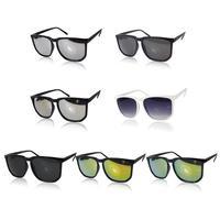 2015 Brand New Retro Unisex Color film Square Sunglasses Vintage Reflective Eyeglasses 7 Colors for choose