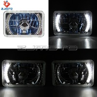 Crystal Semi Seal 4*6 H4 Super White light 55 - WT White LED Projector Headlights For Motorcycle and Car