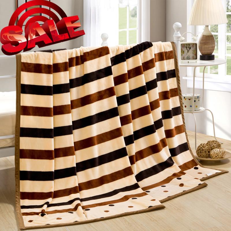 decorative woven minky dot blankets, plush skull sofa knitted throw fleece blanket rabbit coral on bed for boys kid satin trim(China (Mainland))