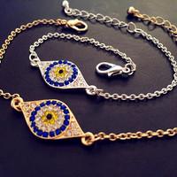 6pcs/lot  fashion women jewelry 2015 new accessories evil eye hamsa hand bracelet