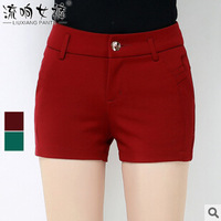 Free shipping Spring autumn 2015 new Korean version hot sale simple wild warm Thickened Knit soft women Shorts cheap wholesale