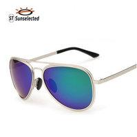 Women Sunglasses 2015 New Polarized Glasses Evoke Oculos de sol Fashion Eyewear Frames Stainless Steel Blue green Unisex sg265