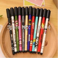 12 pcs/lot New Cute Cartoon Kawaii Diamond Tip Anime Gel pens for Gifts School Matrails Korean Stationery Free shipping