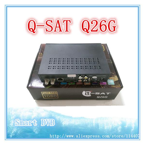 Africa HD satellite decoder QSAT Q26G free dstv canalsat updated from qsat q23g Q13g free half year for africa(China (Mainland))