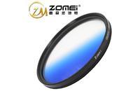 F11730 Zomei Ultra Slim C-PL CPL 77mm Circular Polarizing Polarizer Lens Filter Gradient Blue for SLR DSLR 24-70 24-105 + FS