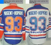 Edmonton #93 Ryan Nugent-Hopkins Men's Authentic Home Blue/Road White Hockey Jersey