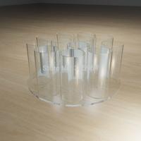 280x280x120mm clear acrylic umbrella display