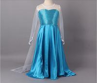 New 2015 summer hot sale princess dress long sleeve baby girls dress children's clothing disfraces infantiles GZ0102