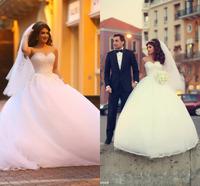 Vestido De Novia Curto Sweetheart Ball Gown Crystal Wedding Bride Dress Custom Made Fashionable Bridal Gowns 2015 Floor Length