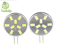Tanbaby 10pcs X  DC12V 9 SMD 5730 bulb G4 lighting lamps 3W white or warm white led cabinet lights energy saving