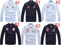 2015 Free shipping Latest Fashionable New model Men's Long Sleeve Shirt Grid For Men's Shirts T-shirt