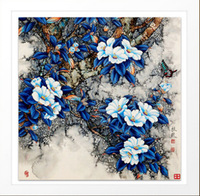 Large 5D Flower butterfly needlework Diy diamond painting cross stitch plants embroidery Chinese style pasted sticker craft