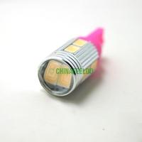 20Pcs Car DC12V Pink T10 194/168 Wedge 10-SMD 5630 LED Light Bulb With Lens #J-1653