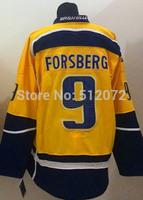 Nashville #9 Filip Forsberg Men's Authentic Home Yellow Hockey Jersey