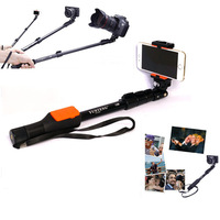 YT1288 Extendable Self Portrait Selfie Stick Monopod With Bluetooth Remote Shutter for iPhone 6 plus 5s for GoPro for LG Sony