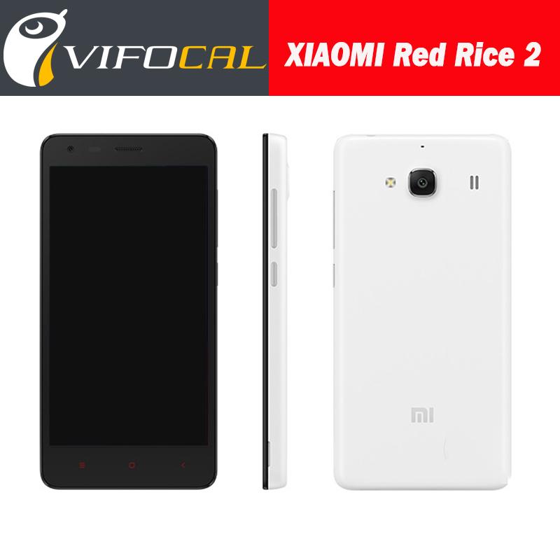 Original Xiaomi Redmi 2 4.7''IPS Qualcomm Quad Core Android Mobile Phone Hongmi Red Rice 2 Hongmi 4G FDD LTE WCDMA 3GB 8MP Phone(China (Mainland))