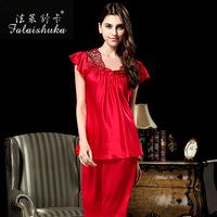 Falaishuka 100% silk short-sleeved tracksuit piece fitted women's silk pajamas summer S552