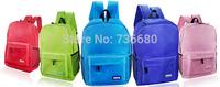 High Quality   Canvas Women Men  School Student Bag  College Shoulder  Backpack  Solid Colors
