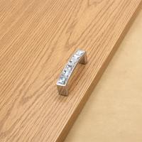 Modern CC size 64mm Furniture Handles Hardware Crystal Diamond Knob Drawer Wardrobe Kitchen Cabinets Cupboard Pull Handle