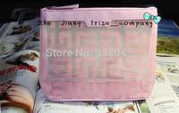 Free shipping women fashion beauty cosmetic case brand makeup organizer toiletry designer clutch bag tote travel wash purse
