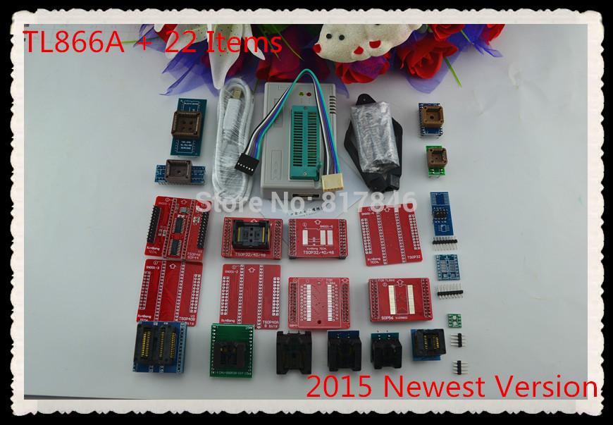 Free Shipping 2015 newest V6.1 MiniPro TL866A Prgrammer USB Universal Programmer /Bios Programme+22 pcs items(China (Mainland))