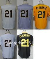 Pittsburgh #21 Roberto Clemente Men's Authentic Throwback 1960 Home Cream 1962 Road Grey 1971 Orange/White/Black Baseball Jersey
