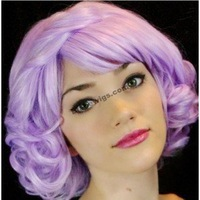 New Style Hot Fashion Japan Anime Cosplay Wig short curly synthetic womens wigs side bangs wigs