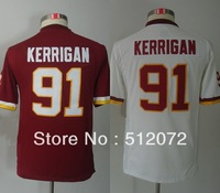 Washington #91 Ryan Kerrigan Kids Youth Authentic Team Red/White Football Jersey