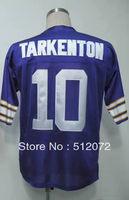 Minnesota #10 Fran Tarkenton Men's Authentic Throwback 1975 Team Purple Football Jersey