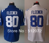 Indianapolis #80 Coby Fleener Men's Authentic Game Team Blue/White Football Jersey