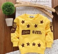 Free Shipping NEW 1PC/Lot Spring & Autumn Children Kid Boy Girl Soft Star Fashion Long T- Shirt  Kid Cloth Soft Cotton Tops Gift