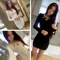 2015 New Free shipping New Sexy Peplum Dresses Evening Bodycon Dress Mini Club Wear Night Work Clothing Bodysuit For Women A119