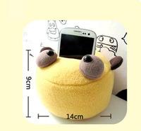 2015 New design cute cartoon plush soft cellphone holder/ phone holder/car holder/ camera stand/ & Free Shipping
