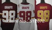 Washington #98 Brian Orakpo Men's Authentic Elite Team Red/White/Alternate 80th Football Jersey