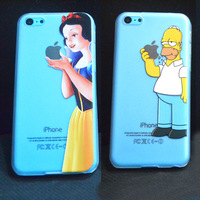 1PC Hot!Novelty Cases Cover For Apple iphone5C iPhone 5C Case Shell Snow White Homer Simpson Simpsons Mermaid & SLSK